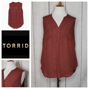 Torrid Harper Ditsy Dots Georgette Pullover Tank